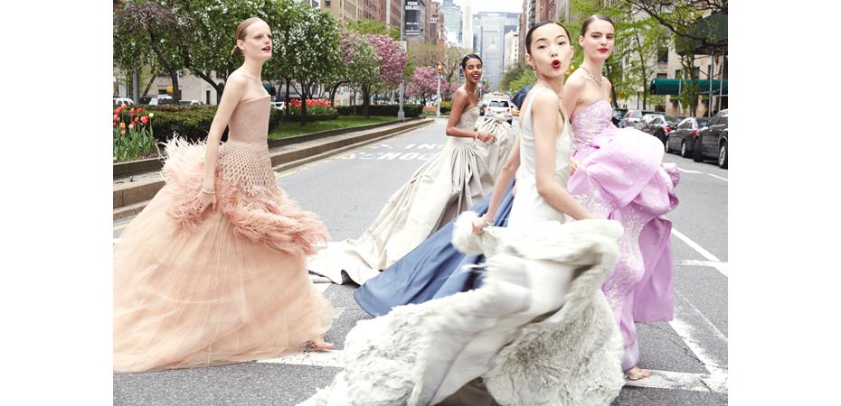 Vogue Ballgowns 4 (girls crossing street), 2014