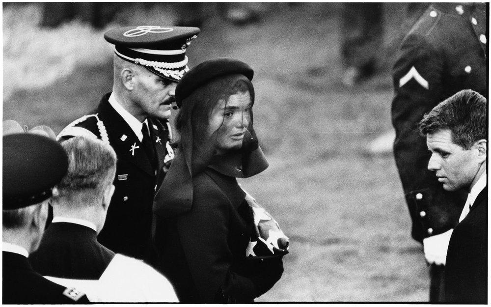 Jacqueline Kennedy at John F. Kennedy's funeral, Arlington, November 25th, 1963