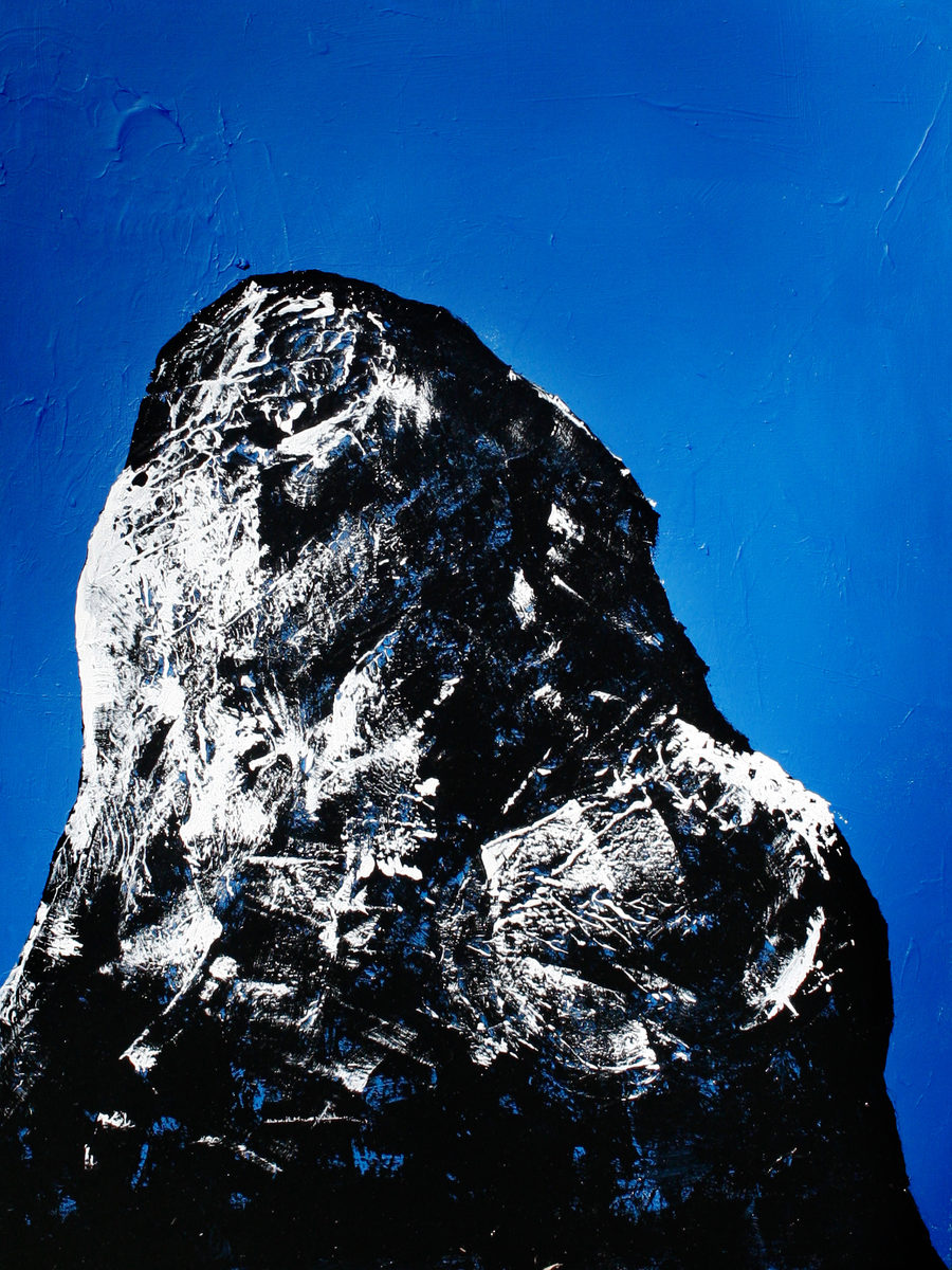 """Portrait of a Mountain 2"", 30x40in"