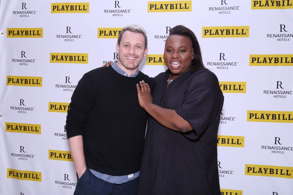 Alex Newell  (Asaka) with his brilliant director of Broadway's ONCE ON THIS ISLAND
