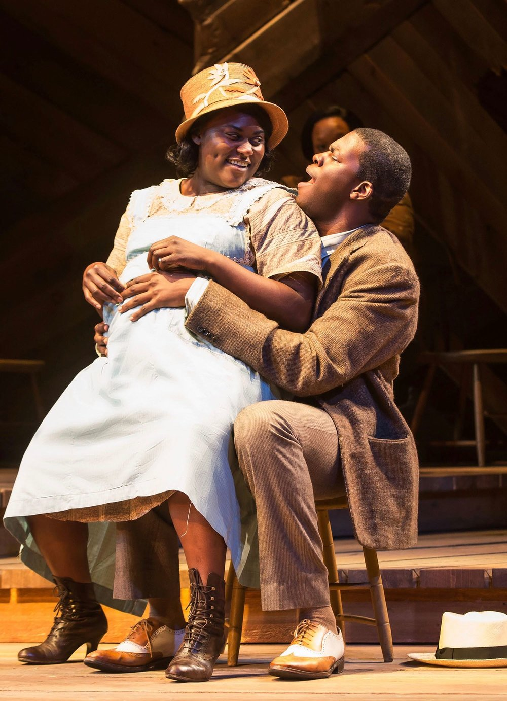 Kyle Scatliffe  (Harpo) woos his Sofia in the Broadway revival of THE COLOR PURPLE
