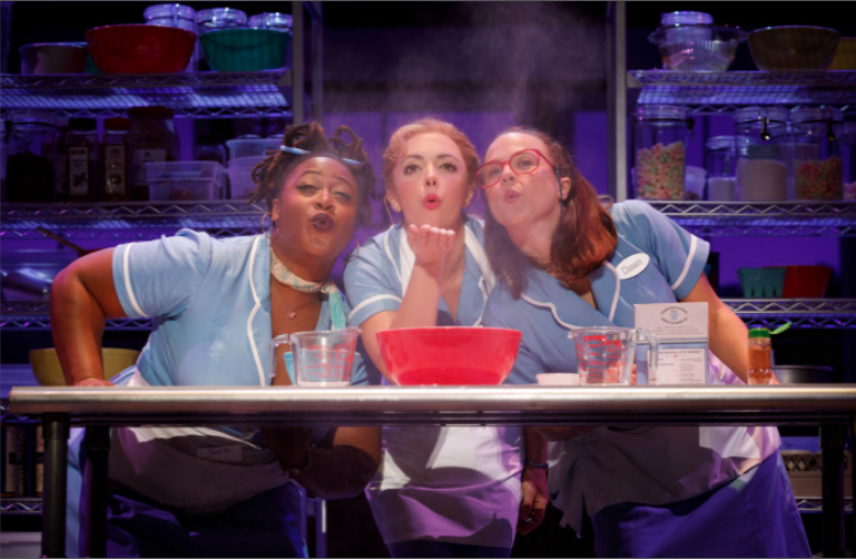 The 1st national tour of WAITRESS, featuring  Charity Angel Dawson  (Becky) and  Lenne Klingaman  (Dawn)