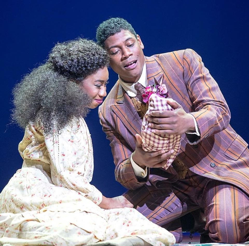 Students  Destinee Rea  (Sarah) and  Nkrumah Gatling  (Coalhouse) in RAGTIME at Pennsylvania Shakespeare Festival