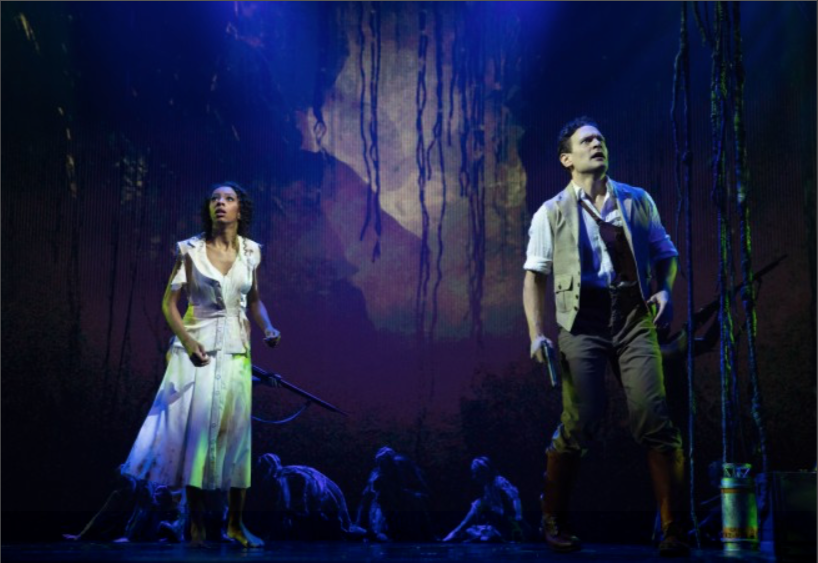 Students  Christiani Pitts  and  Eric William Morris  costarring in Broadway's KING KONG.