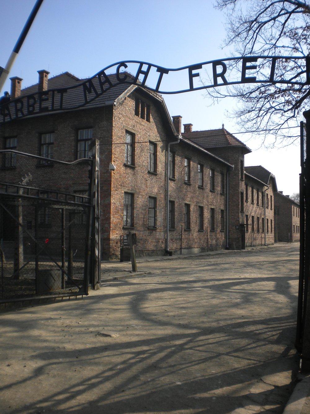 Auschwitz Memorial in Oświęcim, Poland.