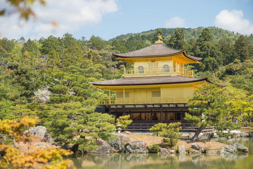 Rokuon-ji Temple in Kyoto, Japan.