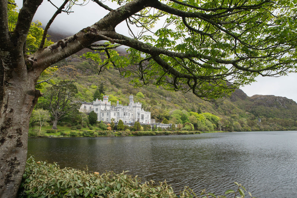Peaceful Kylemore Abbey in Connemara, Ireland.