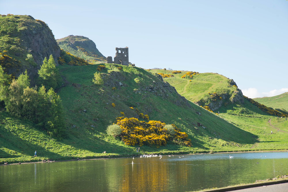 Arthur's Seat in Holyrood Park in Edinburgh, Scotland.
