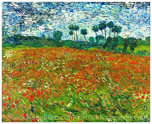 Vincent van gogh poppy field red flowers under a blue sky high vincent van gogh poppy field red flowers under a blue sky high resolution digital download mightylinksfo