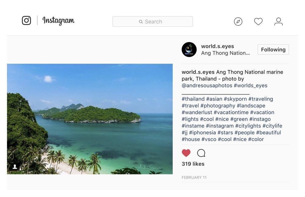 Ang Thong National marine park, Thailand - world.s.eyes (IG)
