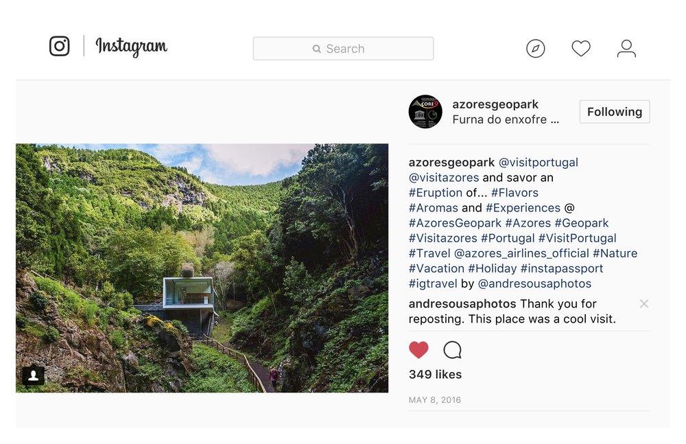 Furna do Enxofre - Azores Geo Park (IG)