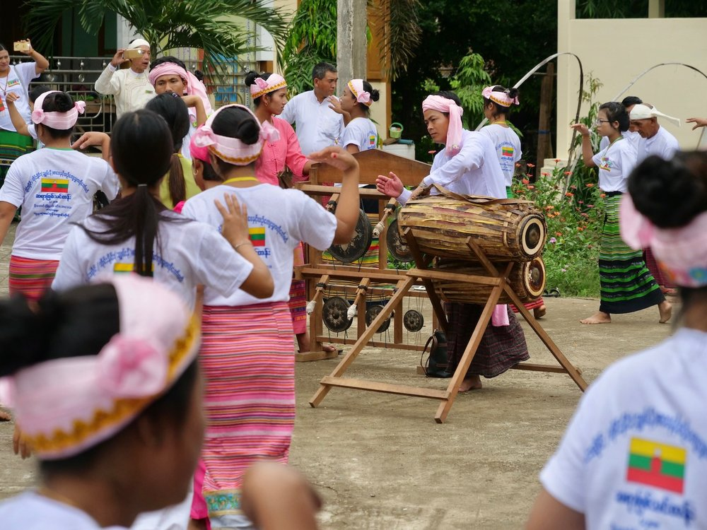 Traditional Shan-ni music and dance commence following the ceremony.
