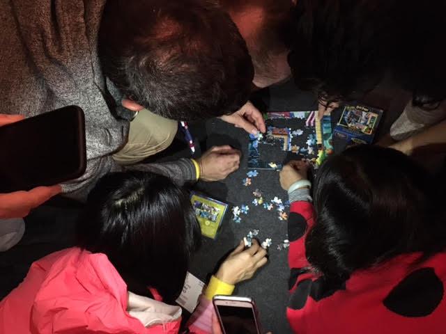 1日目のCohort Cup、Athletic Partでは皆でジグソーパズルを解くという場面もあったようです。