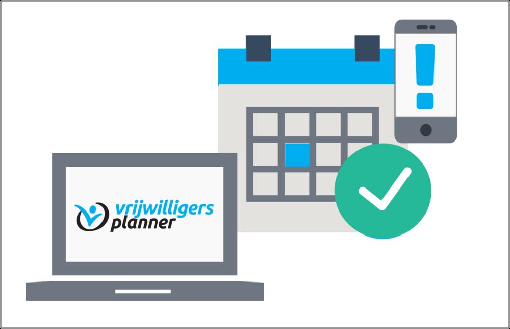 Deel vrijwilligers en teams eenvoudig in op basis van beschikbaarheid, voorkeuren en vaardigheden. Planning publiceren via de persoonlijke vrijwilligerspagina of e-mail .