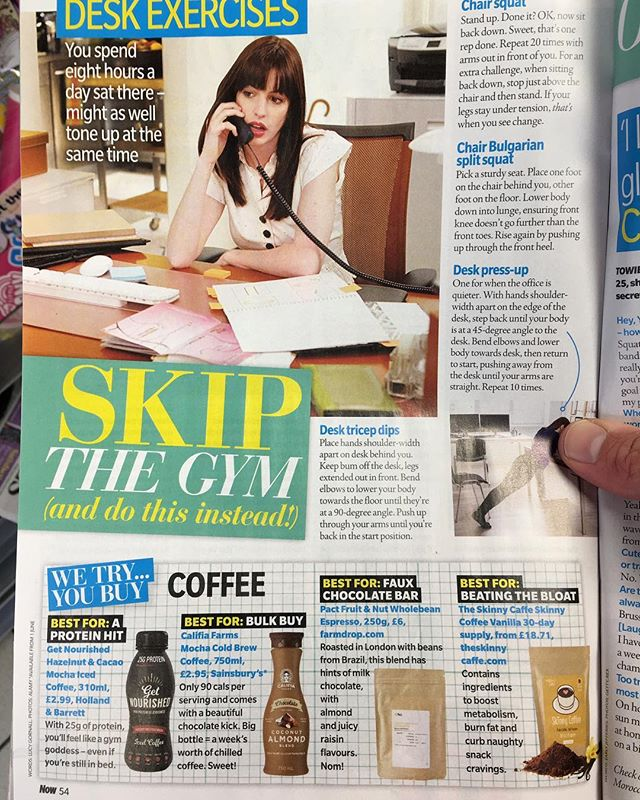 #buzzing to get a shout out in @nowmag this week! Go and grab your @getnourisheduk high protein lactose free iced coffees from H&B now! 🧔🏻 Choose from 3 delish flavours;  Hazelnut and Cacao Mocha Vanilla Latte Coconut and Cacao Mocha  All with 💯% rich slow roasted Arabica coffee  #proteinhit #nowmagazine #shoutout #fitfamuk #hollandandbarrett #getnourished #highproteindelish #coffee #arabica #lactosefree