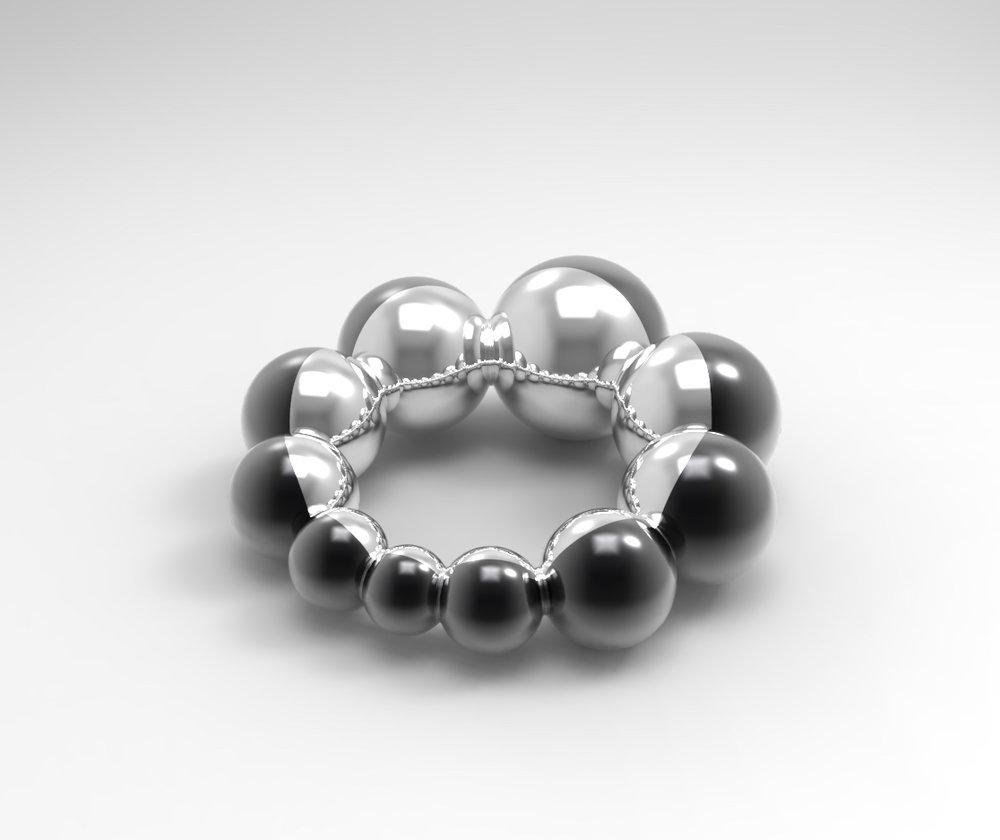 twotone ring halfed spheres 3D rhinoceros keyshot.jpg