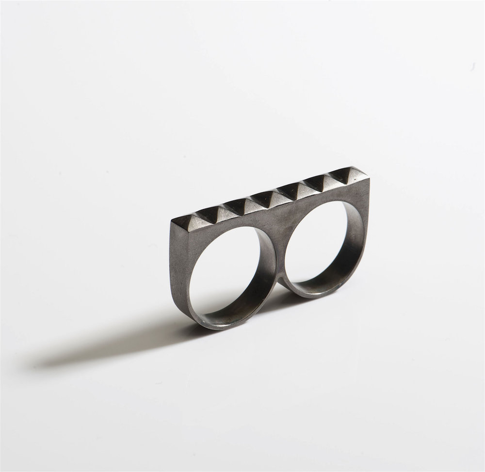 black silver double ring pyramid studs.jpg