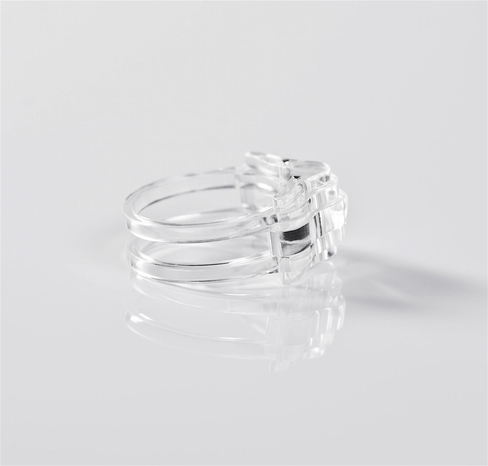 ghost ring layered clear acrylic silver.jpg