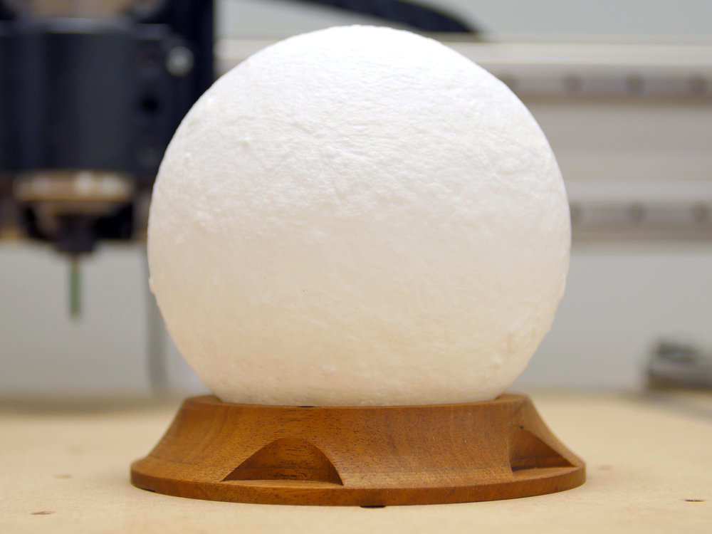 Solid Walnut Moon Globe  Base