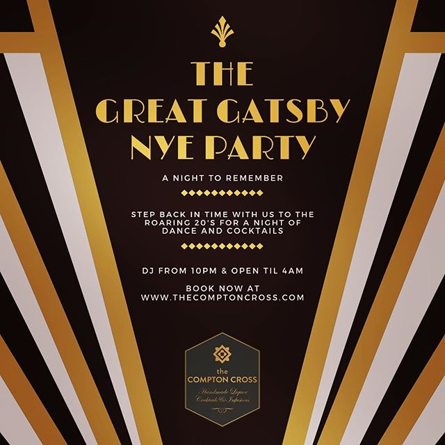 Join us on New Years Eve as we step back in time to the roaring twenties for a night of dance and hidden cocktails.  Entry is free, so book now at www.thecomptoncross.com to avoid disappointment.  #sohobar #cocktailbar #nye #newyear #newyearseve #newyearseveparty