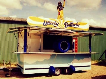 Utterly Butterly funky design promotional trailer with interesting features innovative and functional built in Sussex by Blackburn Trailers