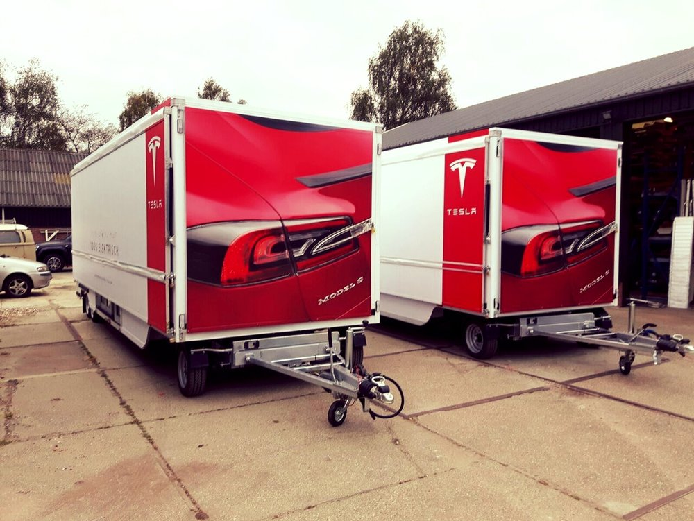 From the Kompak range of exhibition trailer by Blackburn Trailers in Sussex, this large maxi promotional trailer with front panels, easy access steps, low floor and railings and easy to tow environmentally friendly design