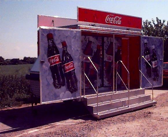Exhibition Trailer for promotional product sampling, huge brand awareness, designed by Kompak, built by Blackburn Trailers