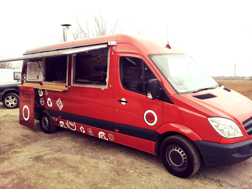 Catering trailer, pizza van oven with fully fitted kitchen inside, built by Blackburn Trailers in Sussex