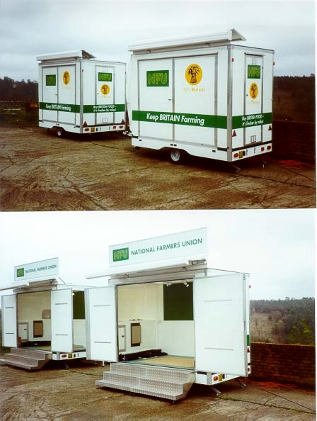 Exhibition trailers | Display Trailers | Coffee kiosks |  Exhibition Trailer | Trailer hire| mobile display unit |
