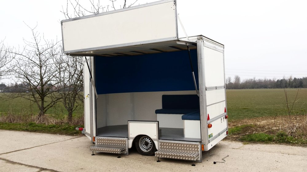 Exhibition trailers | Promotional vehicles | Exhibition unit | Product promotion | Mobile marketing | Display trailer