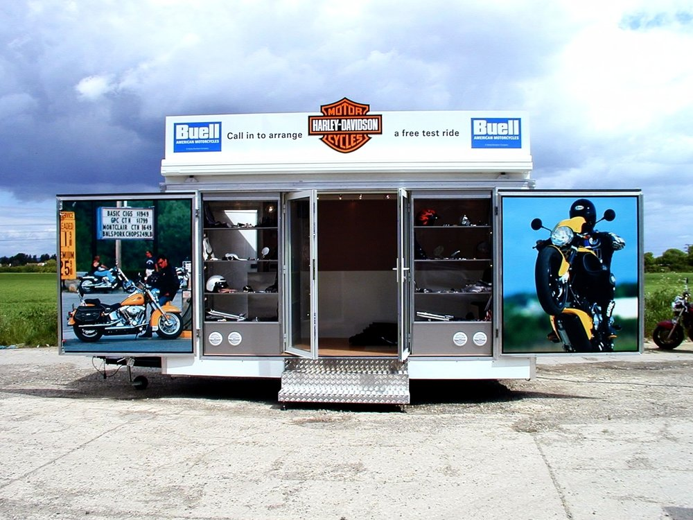 Exhibition trailers   Exhibition trailer   Display trailers   Promotional trailer   Mobile marketing solutions   Marketing truck