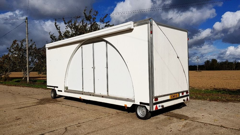 Second hand trailer | Exhibition trailer | Exhibition trailers | Mobile promotional unit | large exhibition trailer
