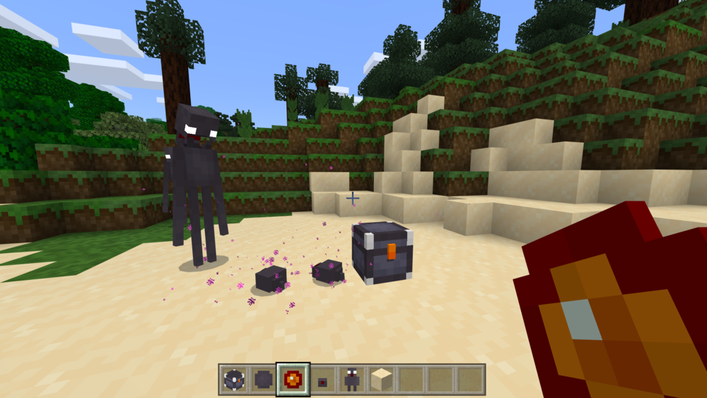 End & Nether items have a distinct colour scheme with Tiny Footprints