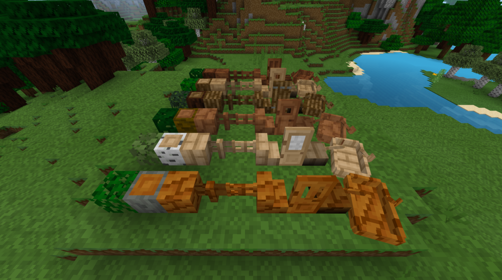 Wood textures redesigned (oak, jungle, birch, acacia, spruce)