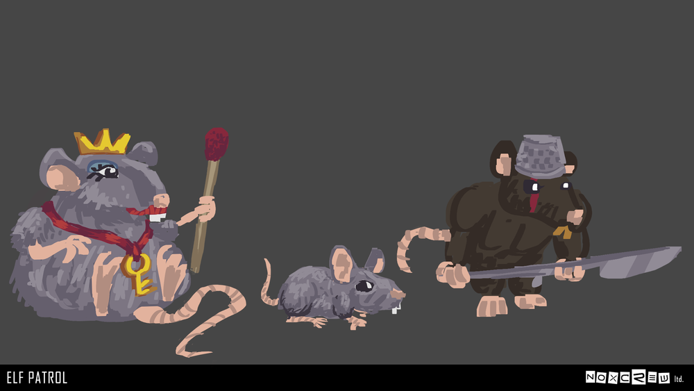 First drawings of the mice and rat