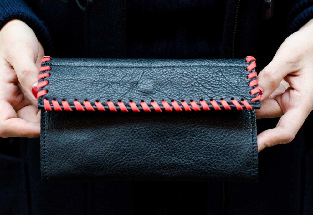 woven wallet -
