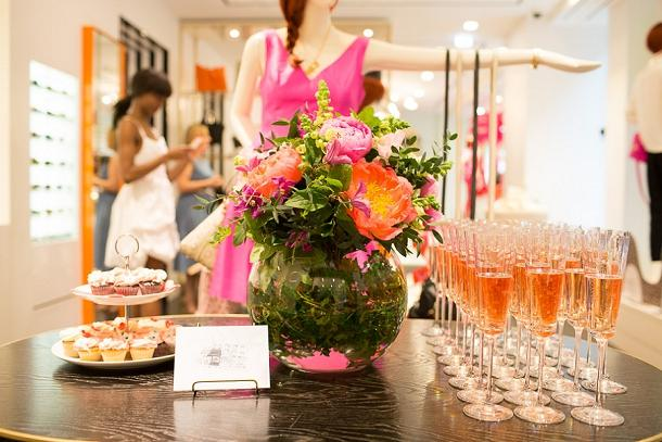 A bridal boutique getting ready to host their event