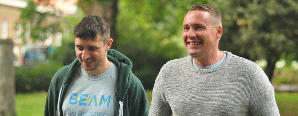 Joe, Beam's second member (R), with his Member Manager, Seb Barker (L).jpg