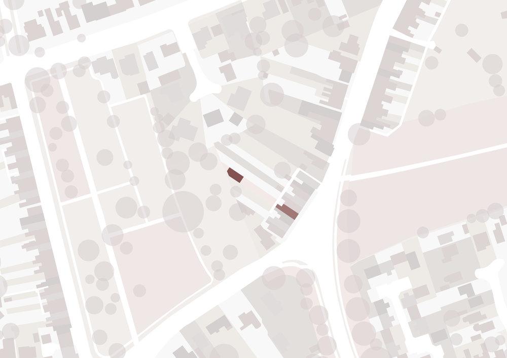 Queensgate Studio Map - Beverley Architects - Samuel Kendall Associates