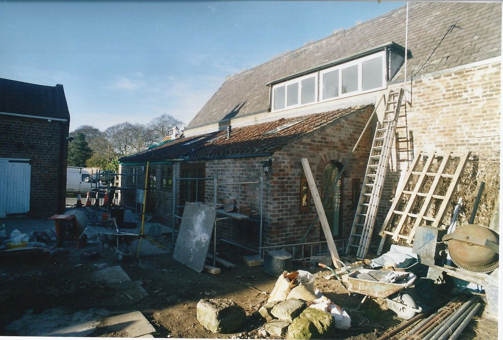 3Old Dairy Construction Exterior 3 - Hedon Architects - Samuel Kendall Associates
