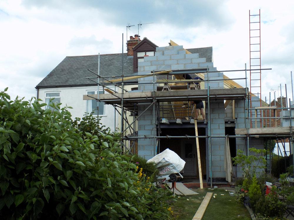 Mereside House Construction 1 - Hornsea Architects - Samuel Kendall Associates