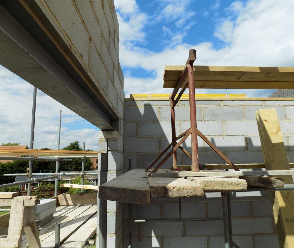 Mereside House Construction 2 - Hornsea Architects - Samuel Kendall Associates