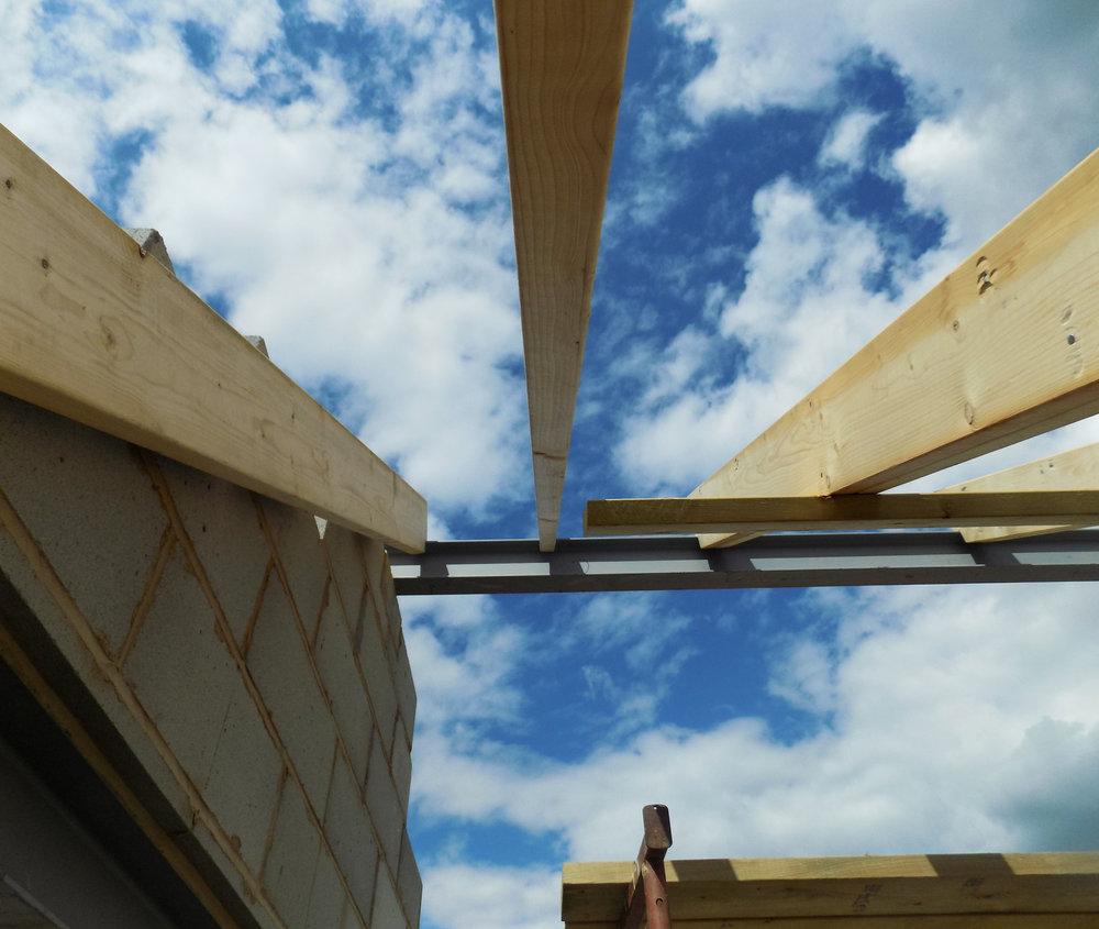 Mereside House Construction 3 - Hornsea Architects - Samuel Kendall Associates