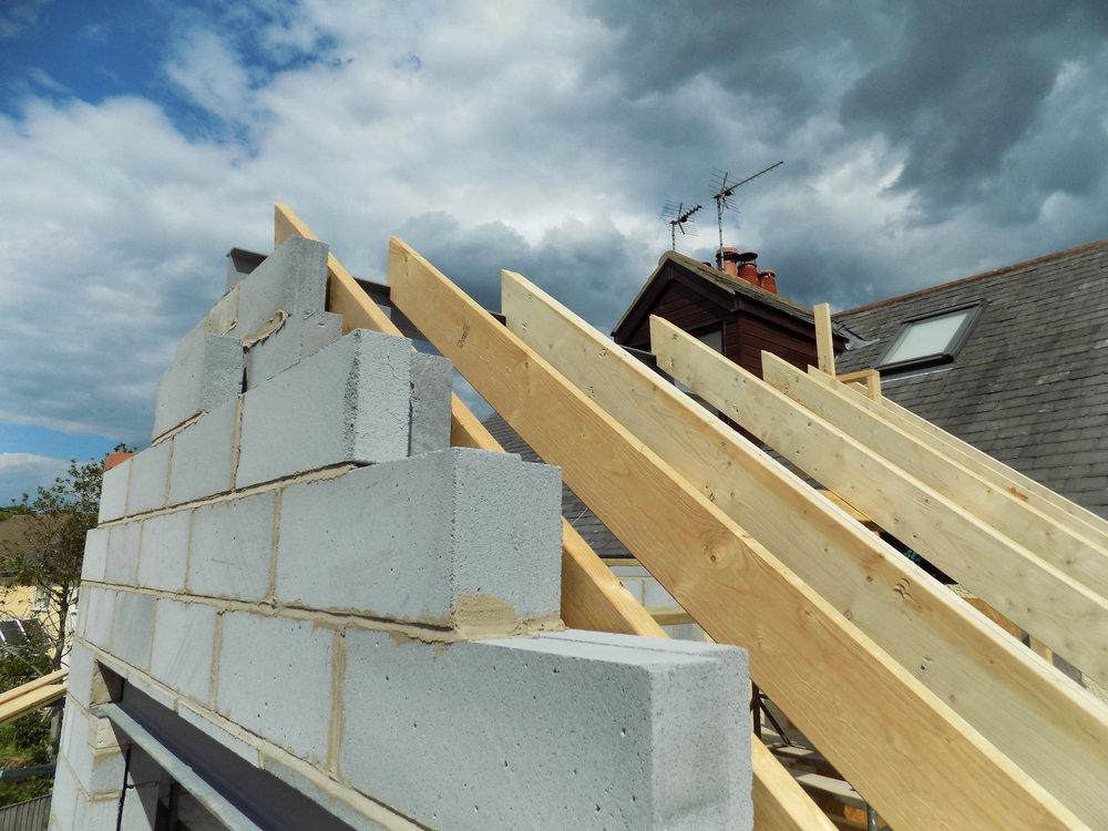 Mereside House Construction 5 - Hornsea Architects - Samuel Kendall Associates