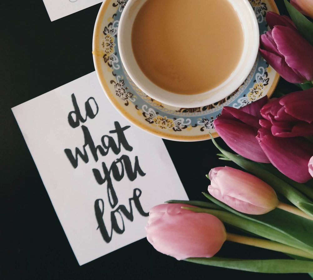 Do what you love - coping card example
