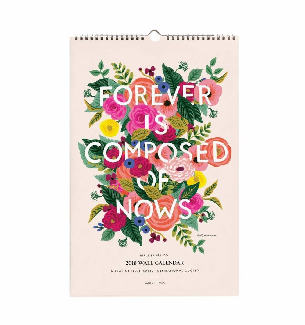2018 Inspirational Quotes Wall Calendar by Rifle Paper Co.