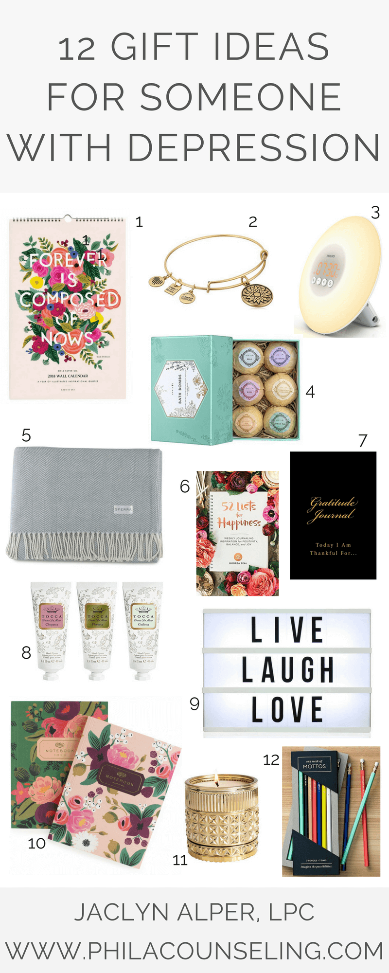 Mental Health And Wellness Blog 12 Gift Ideas For Someone With Depression Jaclyn Alper Ma Lpc