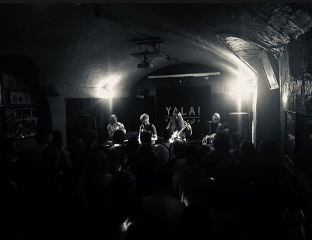 Thanks again to @yalarecords for having us play their first night in Glasgow! Also a big thanks to everyone who came and made it such a great night x 📸 @fruitoftheloomes