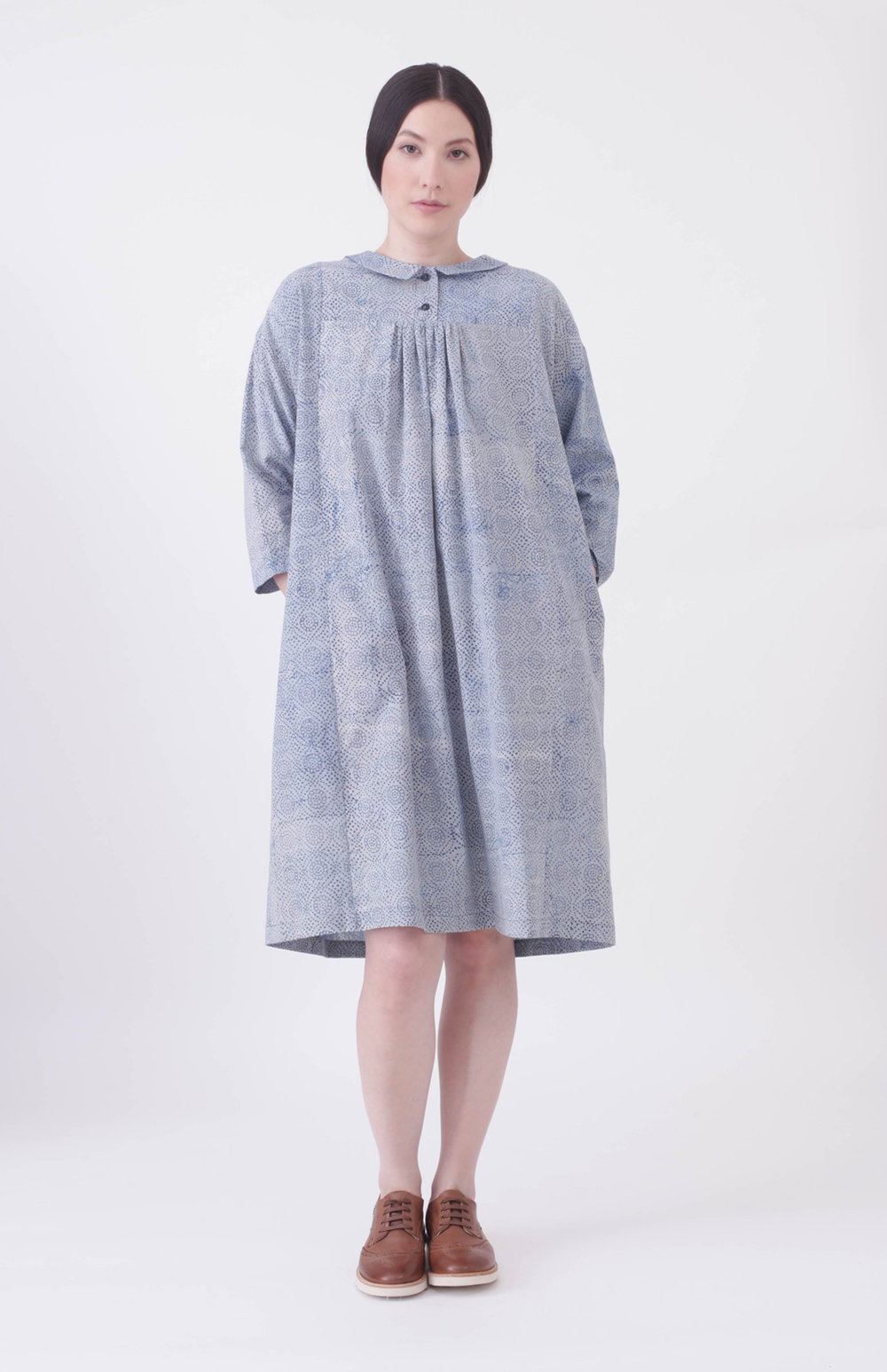 Block print dress dress - 100% Cotton