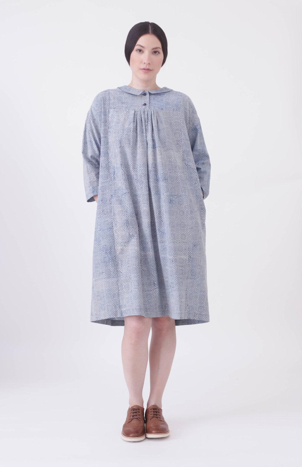 Block print dress dress - 100% Cotton